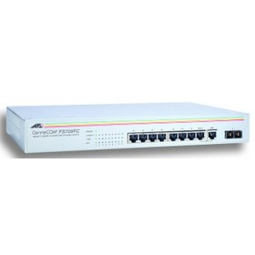 Allied Telesis at-fs709fc  8 port 10/100mbps unmanaged with one fiber ul port